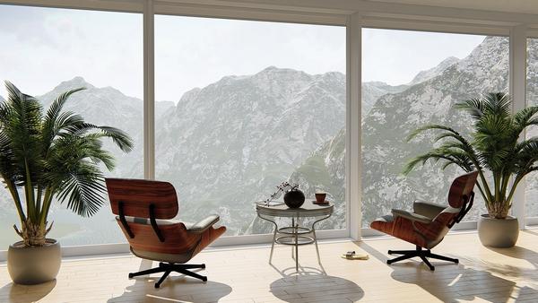 appartement-interieur-vue-montagne-baie-vitree